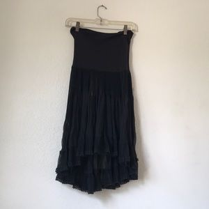 Free People Flowy Black Dress